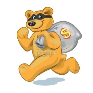 13748394-bear-in-a-mask-who-runs-away-with-a-big-bag-of-money